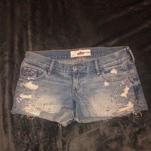 Beaded Hollister Denim Shorts size 1